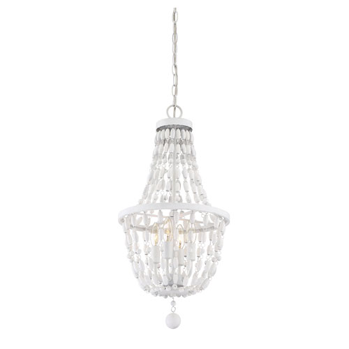 Grace Textured White Four-Light Pendant