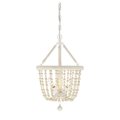 Grace Cream Three-Light Pendant