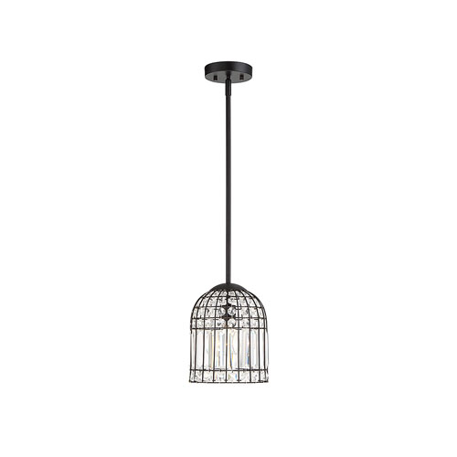 Evelyn Oil Rubbed Bronze One-Light Cage Mini Pendant