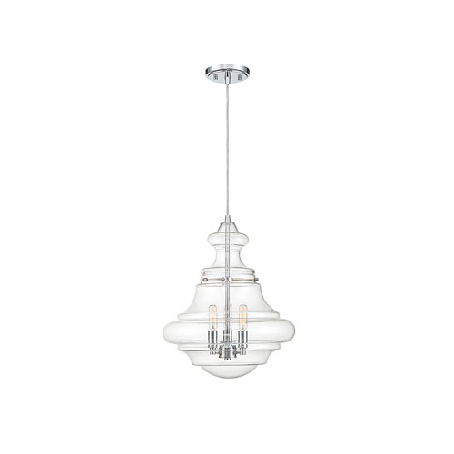 Whittier Chrome Two Light Pendant