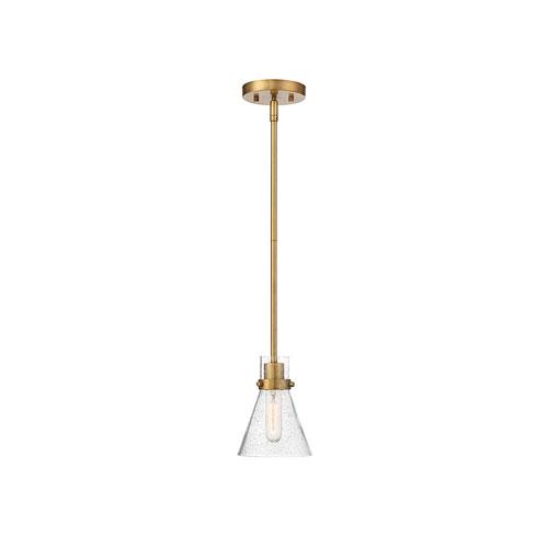 Nicollet Natural Brass Eight-Inch One-Light Mini Pendant