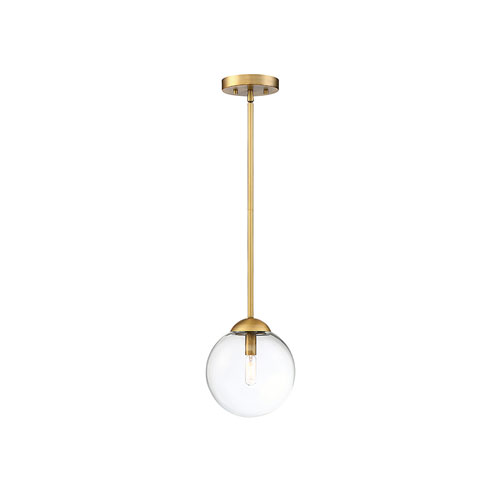 Nicollet Natural Brass One-Light Mini Pendant