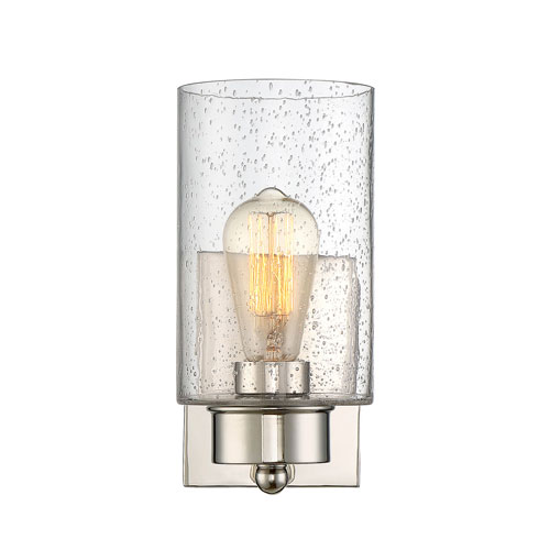 251 First Nicollet Polished Nickel One-Light Wall Sconce