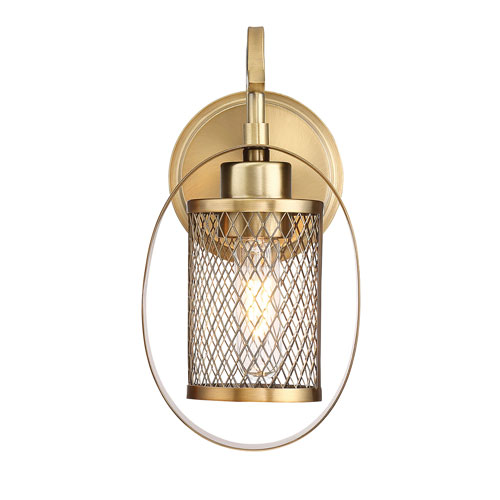 Nicollet Natural Brass One-Light Wall Sconce