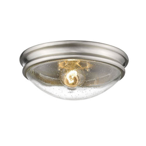 251 First Selby Brushed Nickel One-Light Flush Mount