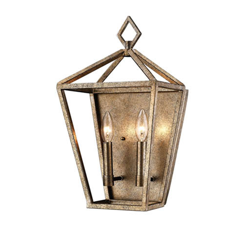 Kenwood Vintage Gold Two-Light Wall Sconce