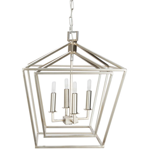 251 First Isles Silver 18-Inch Four-Light Lantern Pendant