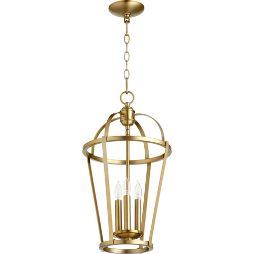 Bryan Aged Brass Three-Light Pendant