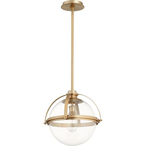 Merton Aged Brass 15-Inch One-Light Pendant