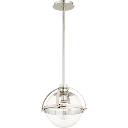 Merton Polished Nickel 13-Inch One-Light Pendant