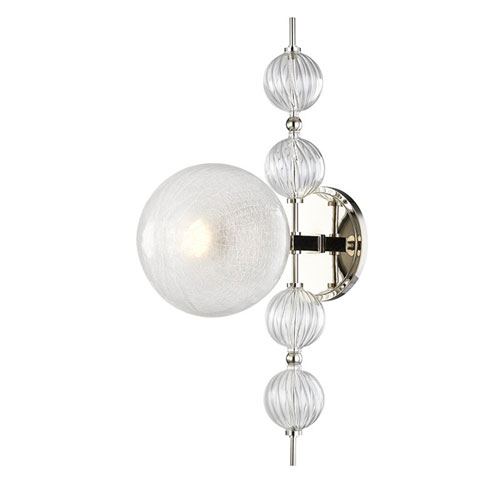 Aveline Polished Nickel One-Light Wall Sconce