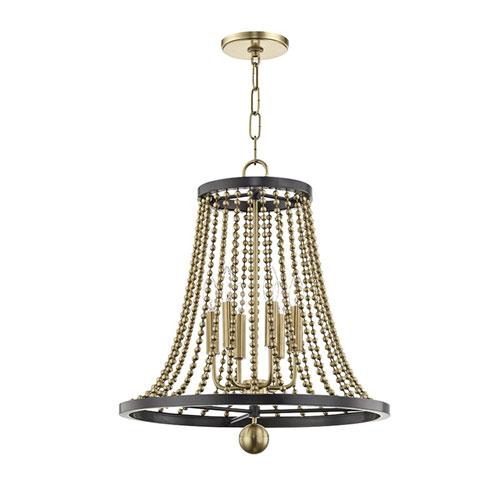 Guildhouse Aged Brass Six-Light Chandelier