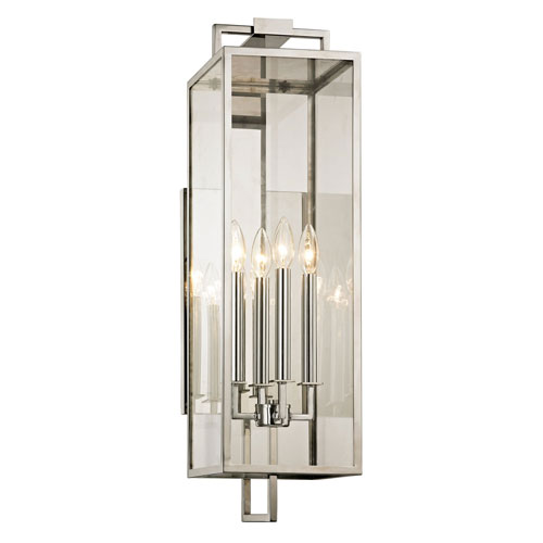Beatty Polished Stainless Four-Light Outdoor Wall Sconce