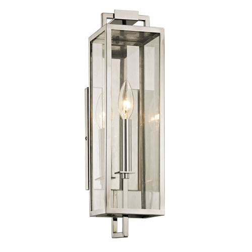 Beatty Polished Stainless One-Light Outdoor Wall Sconce