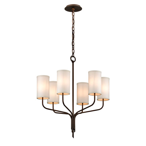 Tallulah Bronze Six-Light Chandelier
