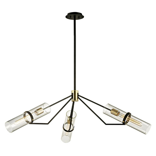 Barlow Textured Bronze and Brushed Brass Three-Light Pendant