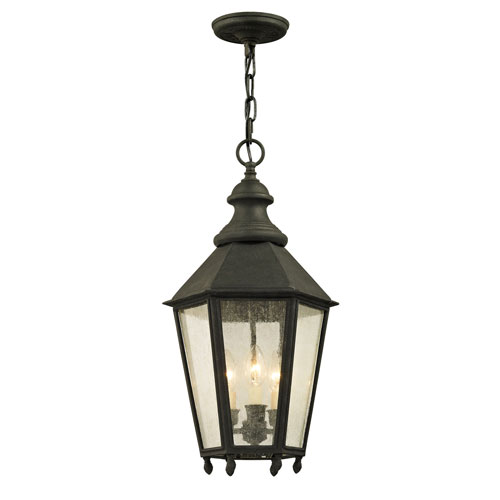 Byron Vintage Iron Three-Light Outdoor Pendant