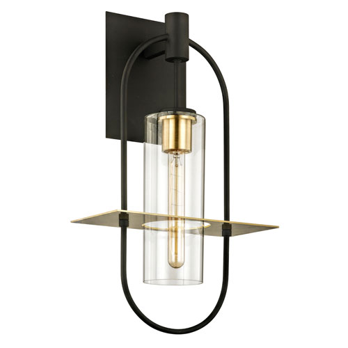 Castile Dark Bronze and Brushed Brass 22-Inch One-Light Outdoor Wall Sconce