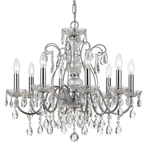 Wellington Chrome 25-Inch Eight-Light Chandelier