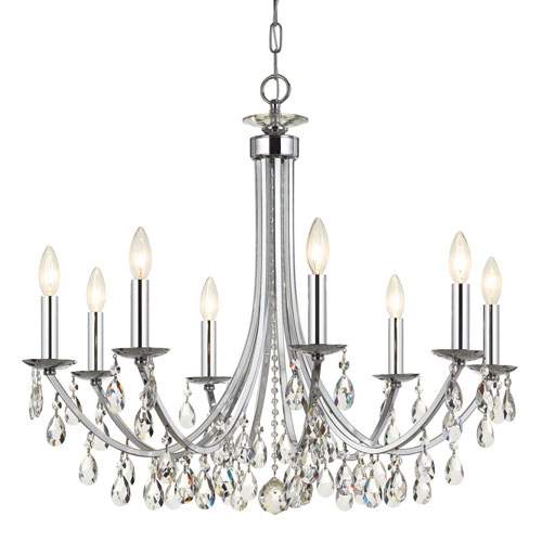 Wellington Chrome 29-Inch Eight-Light Chandelier