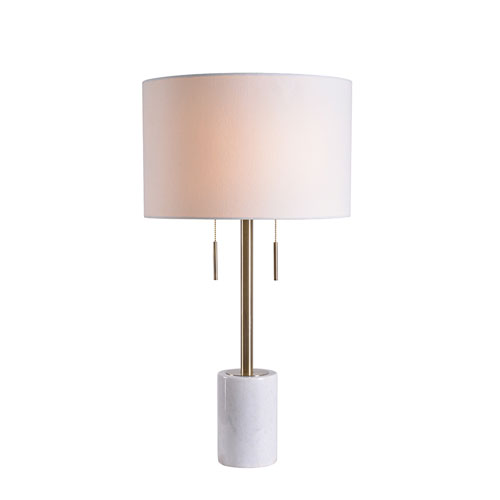Uptown Antique Brass Two-Light Table Lamp