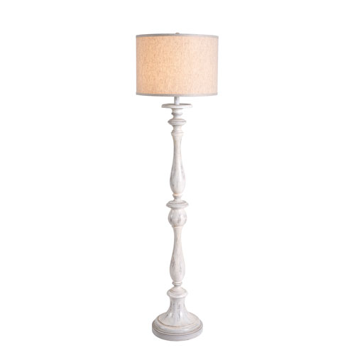 Grace Weathered White One-Light Floor Lamp
