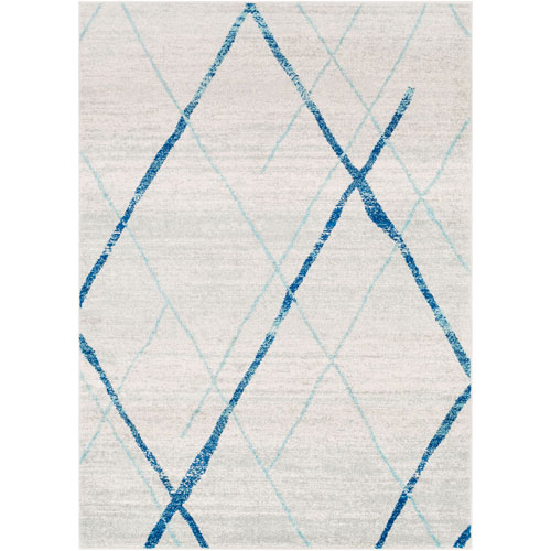 Uptown Gray and Blue Rectangular: 5 Ft. 3 In. x 7 Ft. 6 In. Rug