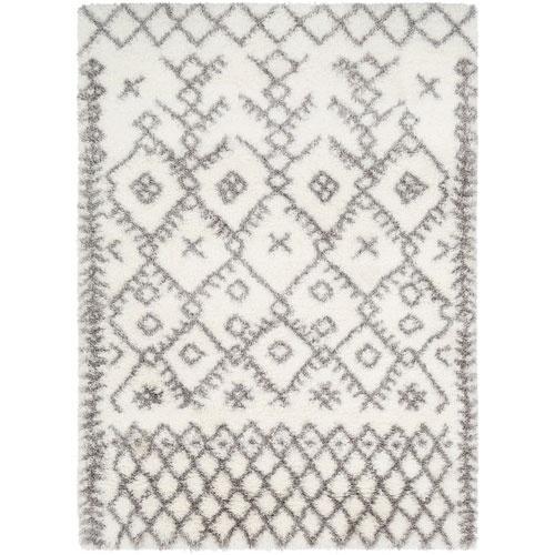 River Station Neutral Rectangular: 5 Ft. 3 In. x 7 Ft. 3 In. Rug