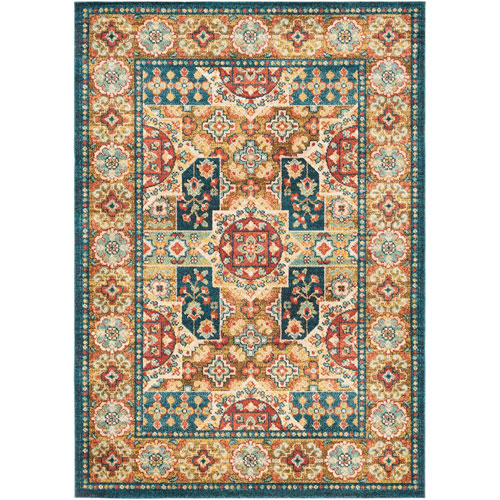 Wellington Multicolor Rectangular: 3 Ft. 11 In. x 5 Ft. 7 In. Rug