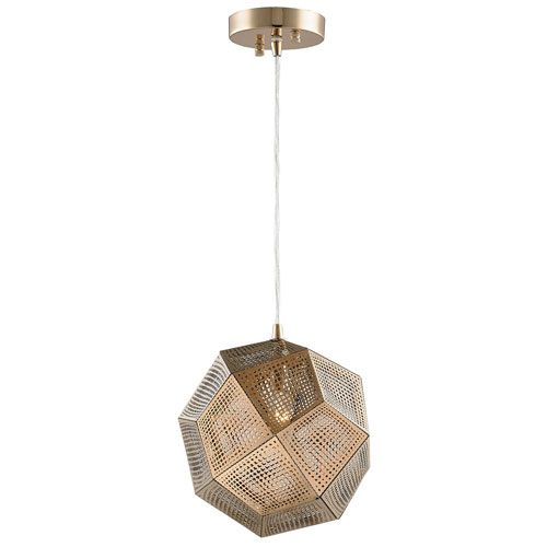 251 First Uptown Champagne 10-Inch One-Light Pendant