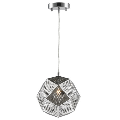 251 First Uptown Chrome 10-Inch One-Light Pendant
