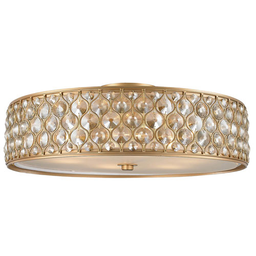 Vivian Matte Gold Six-Light Flush Mount