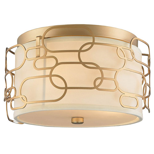 251 First Nicollet Matte Gold Three-Light Flush Mount