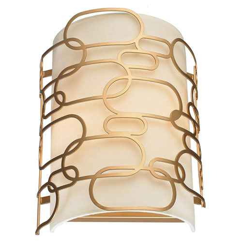 251 First Nicollet Matte Gold Two-Light Wall Sconce