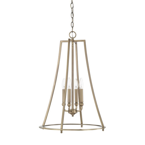 Whitter Aged Brass 18-Inch Four-Light Pendant