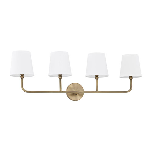 Whitter Aged Brass Four-Light Bath Vanity
