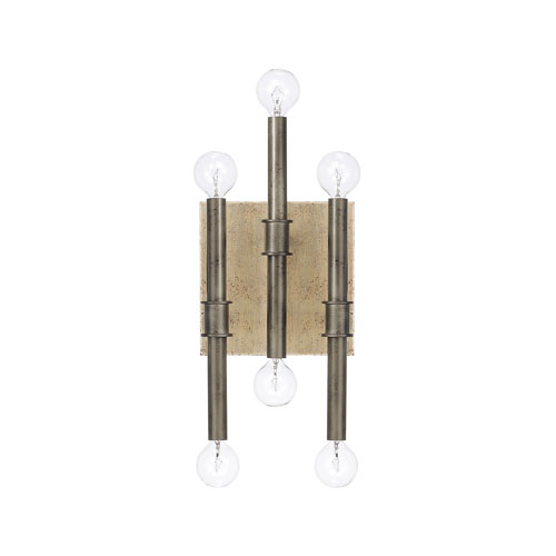 Uptown Iron and Gold Six-Light Wall Sconce