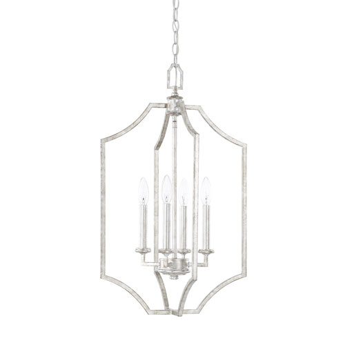 Linden Silver Patina Four-Light Pendant