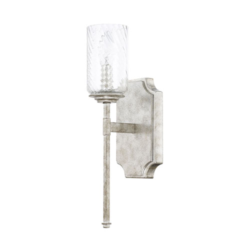Linden Silver Patina One-Light Wall Sconce