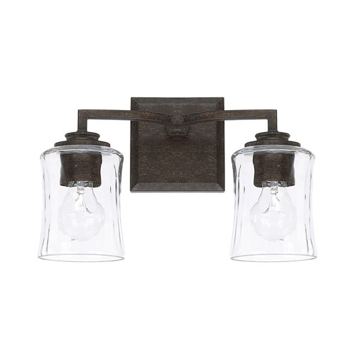 251 First Evelyn Bronze Two-Light Bath Vanity
