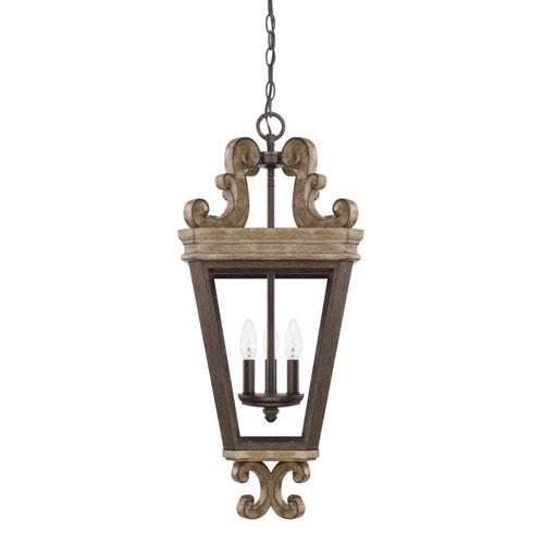 Wellington Bronze Three-Light Pendant
