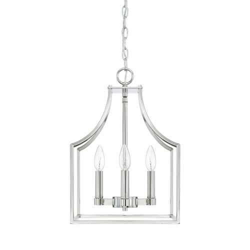 Isles Polished Nickel 12-Inch Four-Light Pendant