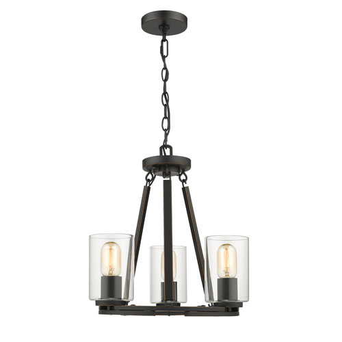 251 First Evelyn Black Three Light Chandelier Bellacor