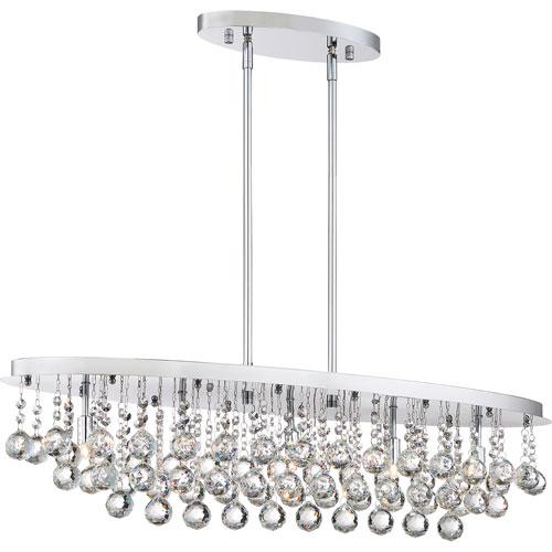 Vivian Polished Chrome Five-Light Pendant