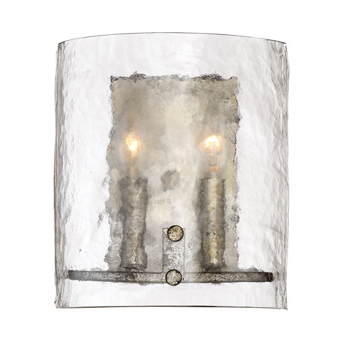 Nicollet Silver Two-Light Wall Sconce