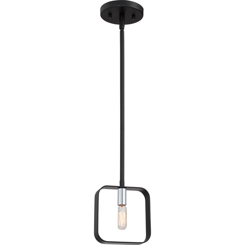 Uptown Black One-Light Mini Pendant