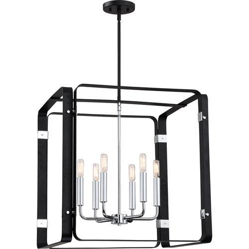 Uptown Black 22-Inch Six-Light Pendant