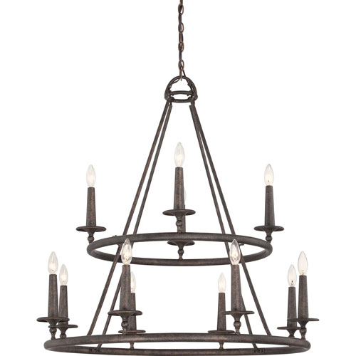 Selby Bronze 12-Light Chandelier