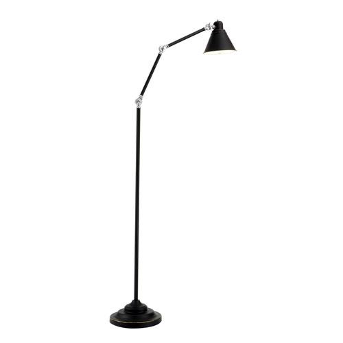 Afton Black One-Light Floor Lamp