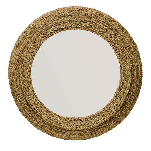 Hayden Seagrass Round Mirror